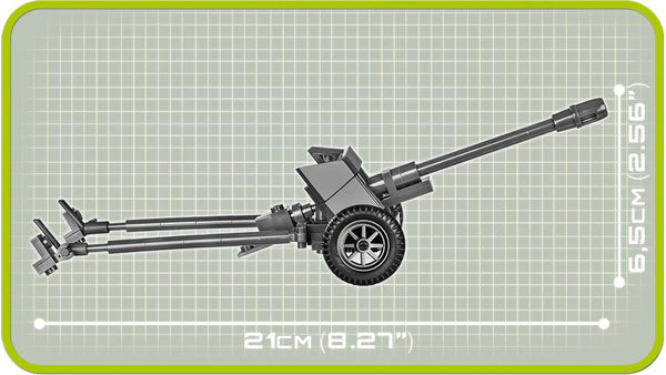 7.5cm Pak 40 - Lego compatible COBI 2398 - 83 brick anti-tank gun - BRICKTANKS