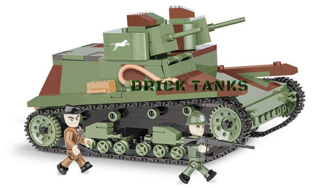 7TP DW Tank - Lego compatible WW2 kit COBI 2512 - 400 brick light tank - BRICKTANKS