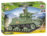 7TP Light Tank - Lego compatible WW2 kit COBI 2456 - 370 brick light tank - BRICKTANKS