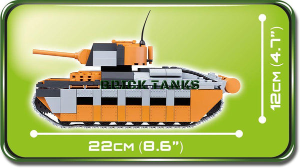 A12 Matilda (Bovington Tank Museum) - Lego compatible WW2 kit COBI 2495 - 510 brick infantry tank - BRICKTANKS
