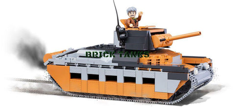 A12 Matilda (Bovington Tank Museum) - WW2 kit COBI 2495 - 510 brick infantry tank - BRICKTANKS