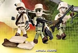Afrika Korps Soldiers (3) - Lego compatible COBI 2034 - 26 brick figurines - BRICKTANKS