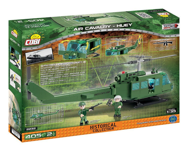 Air Cavalry - 'Huey' - Lego compatible COBI 2232 - 405 pieces military helicopter - BRICKTANKS