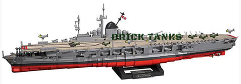 Aircraft Carrier Graf Zeppelin ('World of Warships') - COBI 3086 - 3100 brick aircraft carrier - BRICKTANKS