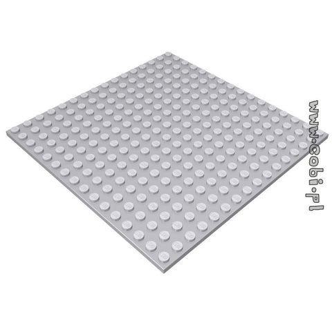 Baseplate 16x16 1/3 Base (light grey) - BRICKTANKS