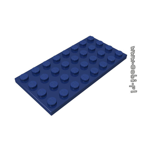 Baseplate 4x8 1/3 - Navy - BRICKTANKS