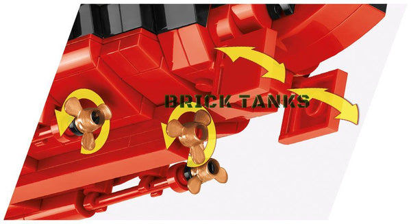Battleship Tirpitz - Lego Compatible COBI 3085 - 2,000 brick battleship - BRICKTANKS