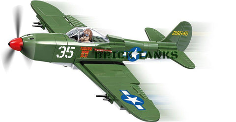 Bell P-39 Airacobra - Lego compatible WW2 kit COBI 5540 - 240 brick fighter aircraft - BRICKTANKS