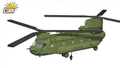 COMING SOON: CH-47 Chinook - Lego compatible COBI 5807 - transport helicopter - BRICKTANKS