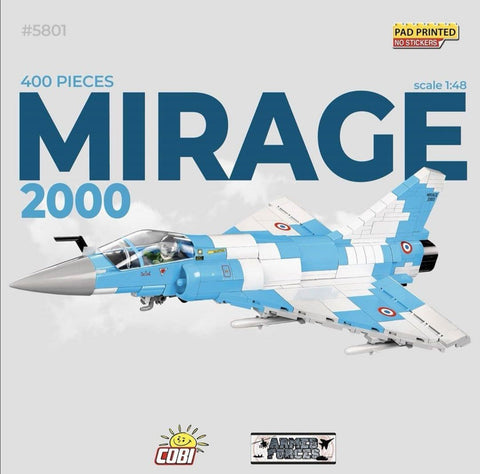 Dassault Mirage 2000 - COBI 5801 - 390 brick fighter aircraft - BRICKTANKS