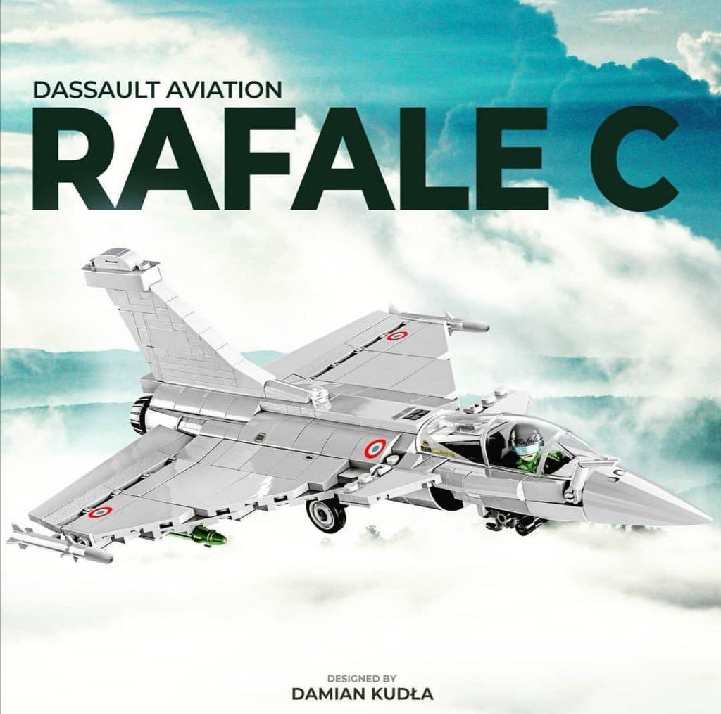 Dassault Rafale - Lego compatible COBI 5802 - 400 brick fighter aircraft - BRICKTANKS