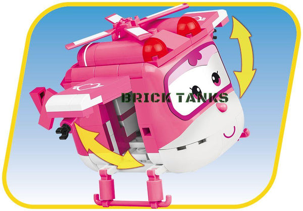 Dizzy (Super Wings!) - Lego compatible COBI 25123 - 210 brick Super Wings robot - BRICKTANKS