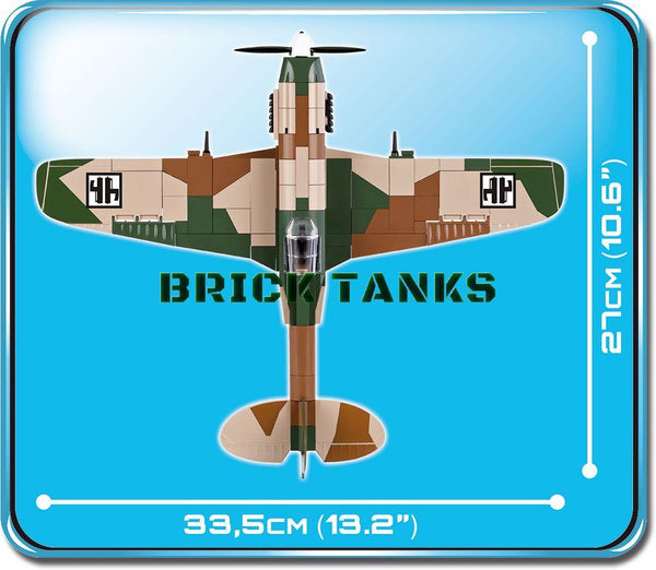 Fiat G55 Centauro - Lego compatible COBI 5528 - 270 brick fighter aircraft - BRICKTANKS