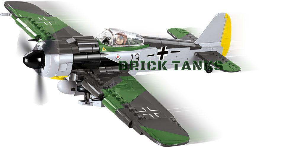 Focke-Wulf FW-190A-8 - Lego compatible COBI 5704 - 300 brick fighter aircraft - BRICKTANKS