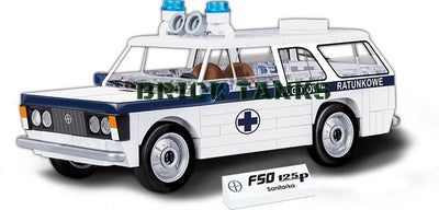 FSO 125p Ambulance - COBI 24545 - 98 brick car - BRICKTANKS