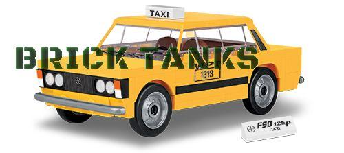 FSO 125p Taxi - Lego compatible COBI 24547 - 89 brick car - BRICKTANKS