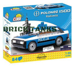 FSO Polonez Police Car - Lego compatible COBI 24533 - 84 brick car - BRICKTANKS