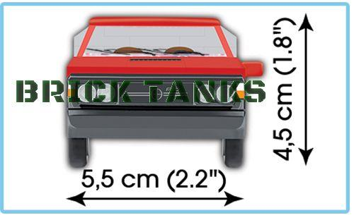 FSO Polonez Truck 1.6 - Lego compatible COBI 24535 - 94 brick car - BRICKTANKS