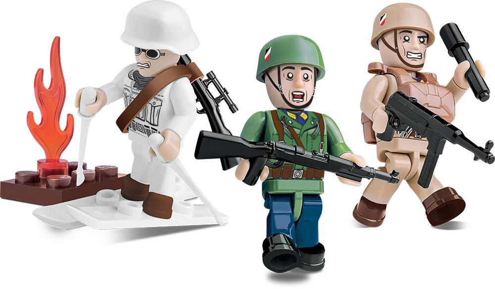 German Elite Troops (3 figures) - Lego compatible COBI 2031 - 26 brick figurines - BRICKTANKS