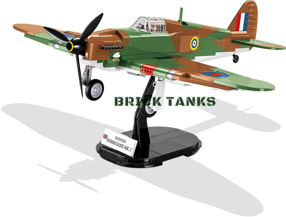 Hawker Hurricane Mk I - Lego compatible COBI 5709 - 270 brick fighter aircraft - BRICKTANKS