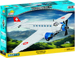 Junkers JU-52 (Red Cross) - COBI 5711 - 501 brick transport aircraft - BRICKTANKS