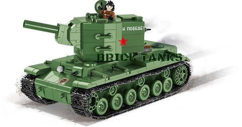 KV-2 ('World of Tanks') - COBI 3039 - 595 brick heavy tank - BRICKTANKS