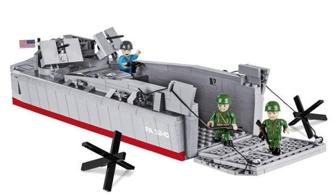 LCVP Landing Craft - Lego compatible COBI 4813 - 510 brick landing craft - BRICKTANKS