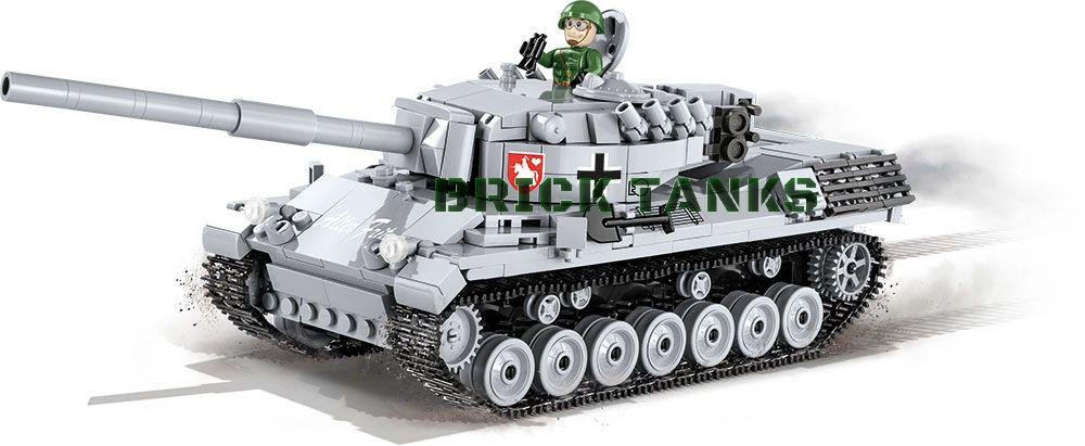 Leopard I ('World of Tanks') - Lego compatible COBI 3037 - 600 brick main battle tank - BRICKTANKS
