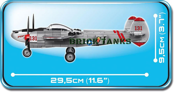 Lockheed P-38 Lightning - Lego compatible COBI 5539 - 395 brick fighter aircraft - BRICKTANKS
