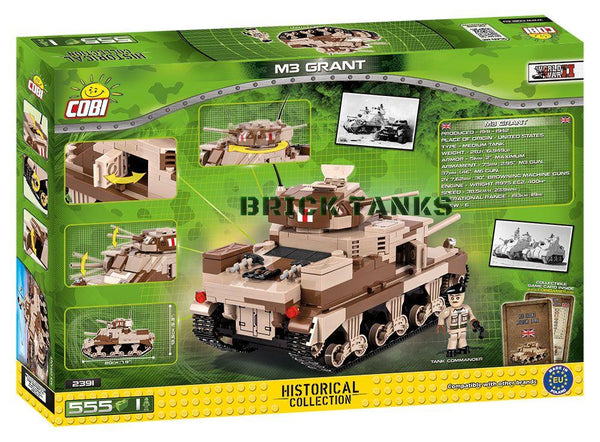M3 Grant - Lego compatible COBI 2391 - 555 brick medium tank - BRICKTANKS