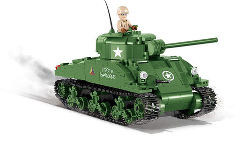 M4 Sherman ('World of Tanks' Edition) - Lego compatible COBI 3007 - 500 brick medium tank - BRICKTANKS