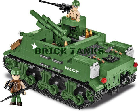 M7 Priest 105mm HMC - Lego compatible COBI 2386 - 500 brick self-propelled gun - BRICKTANKS