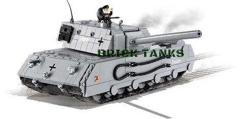 Mauerbrecher ('World of Tanks') - Lego compatible COBI 3032 - 875 brick heavy tank - BRICKTANKS