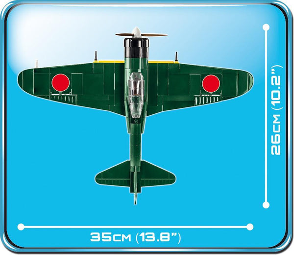 Mitsubishi A6M5 Zero M - Lego compatible COBI 5712 - 280 brick fighter aircraft - BRICKTANKS