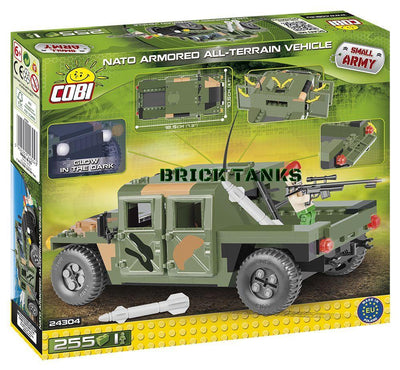 NATO Armoured All-Terrain Vehicle (Jungle) - COBI 24304 - 255 brick model - BRICKTANKS