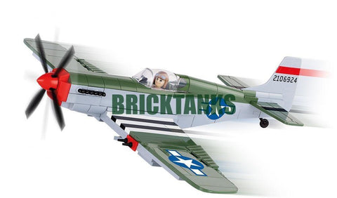 North American P-51C Mustang - Lego compatible COBI 5513 - 250 brick fighter aircraft - BRICKTANKS