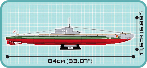 ORP Orzeł - Lego compatible COBI 4808 - 1,240 brick submarine - BRICKTANKS