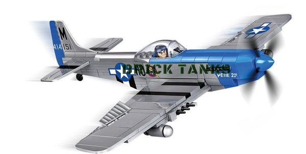 P-51D Mustang - Lego compatible COBI 5536 - 265 brick fighter aircraft - BRICKTANKS
