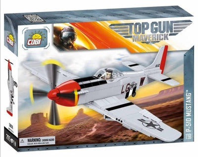 P-51D Mustang 'Top Gun: Maverick' - COBI 5806 - 265 brick fighter aircraft - BRICKTANKS