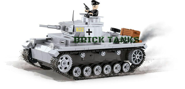 Panzer III Ausf. E - COBI 2523 - 470 brick medium tank - BRICKTANKS
