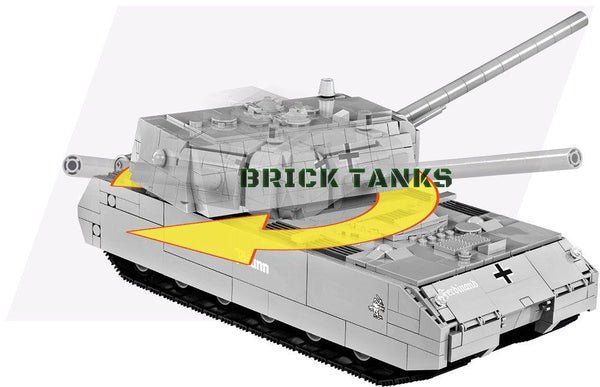 Panzer VIII Maus ('World of Tanks') - Lego compatible COBI 3024 - 890 brick heavy tank - BRICKTANKS