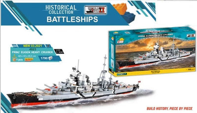 Prinz Eugen - COBI 4823 - 1790 brick heavy cruiser - BRICKTANKS