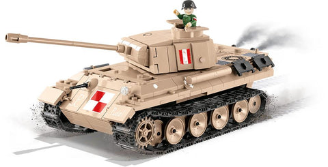 PZKPFW V Panther W ('World of Tanks') - Lego compatible COBI 3035 - 505 brick medium tank - BRICKTANKS