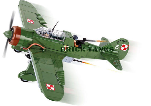 PZL.23B Karaś - Lego compatible COBI 5522 - 280 brick light bomber/reconnaissance - BRICKTANKS