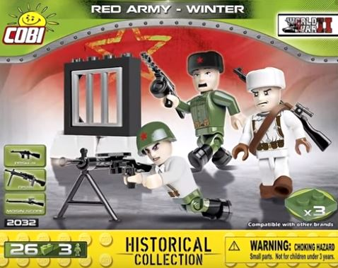 Red Army Winter Troops (3 figures) - Lego compatible COBI 2032 - 26 brick figurines - BRICKTANKS