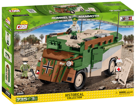 Rommel's Mammoth - COBI 2525 - 735 brick military vehicle - BRICKTANKS