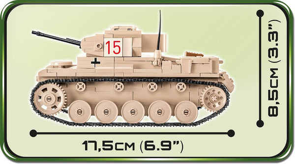 SD. KFZ. 121 Panzer II Ausf. F - Lego compatible COBI 2527 - 420 brick light tank - BRICKTANKS