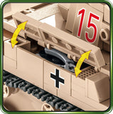 SD. KFZ. 121 Panzer II Ausf. F - COBI 2527 - 420 brick light tank - BRICKTANKS