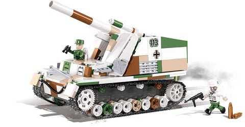 Sd.Kfz. 165 Hummel - Lego compatible COBI 2516 - 575 brick self-propelled gun - BRICKTANKS