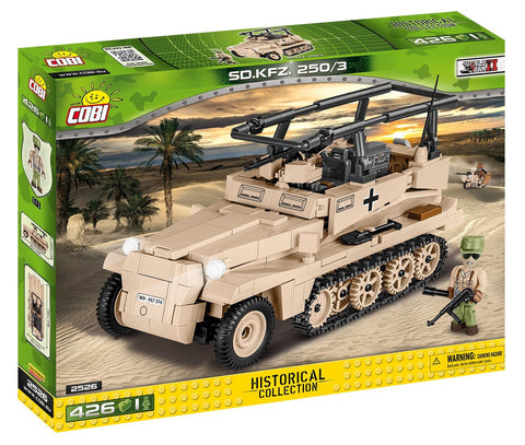 Sd.Kfz. 250/3 (Afrika Korps) - Lego compatible COBI 2526 - 420 brick command vehicle - BRICKTANKS